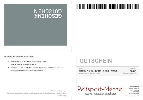 Gutschein Reitsport-Menzel