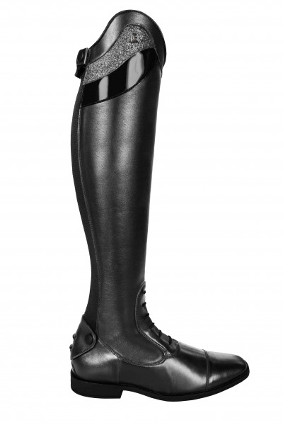 Cavallo Reitstiefel Linus Slim Größe: 6-6,5 (52/35) mit Lackstulpe