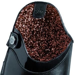 Lack-schwarz-glitter-braun