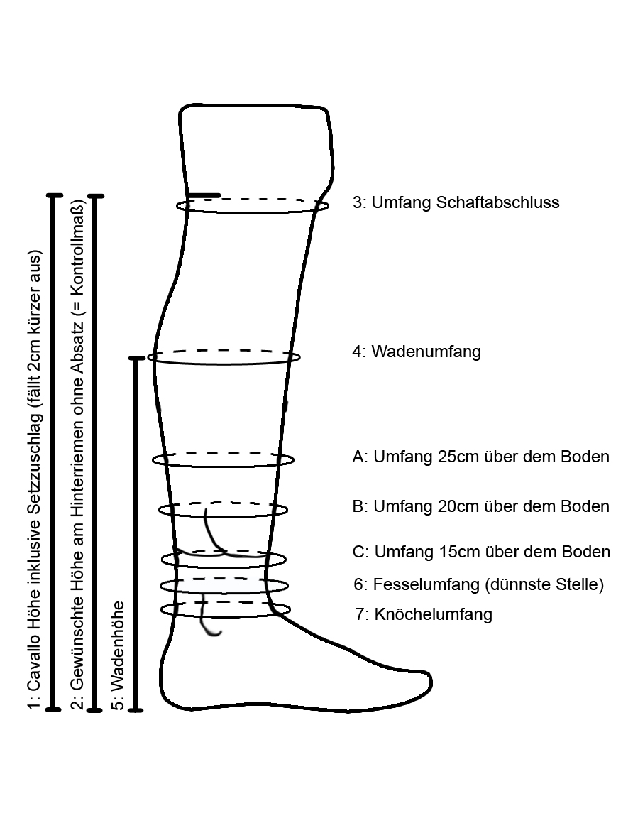 Cavallo-Schaft-Teilmass-deutsch