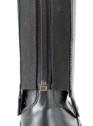 HOBO Profi Chaps zweifarbig schwarz Stiefelschaft Hardschaft Reitstiefel